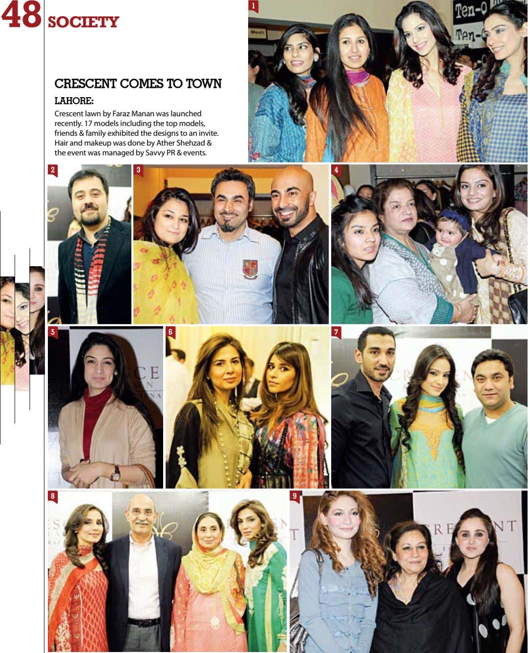48 1 society CresCent Comes to town LAHore: Crescent lawn by Faraz Manan was launched