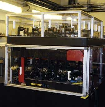 Figure 2. PIONIER, now located above FINITO in the VLTI Laboratory, is fed by four