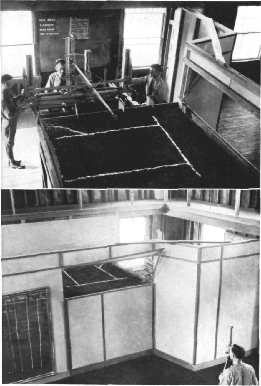 FIG. 4. BARANOFF MACHINE IN OPERATION; THE MAN ON RIGHT MAKES RANGE OR ELEVATION CHANGES,