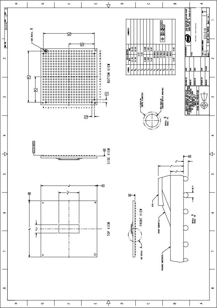 Information Figure 1. FCBGA Processor Package Drawing NOTE: All dimensions in millimeters. Values shown are for