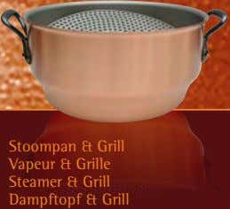 Stoompan & Grill Vapeur & Grille Steamer & Grill Dampftopf & Grill