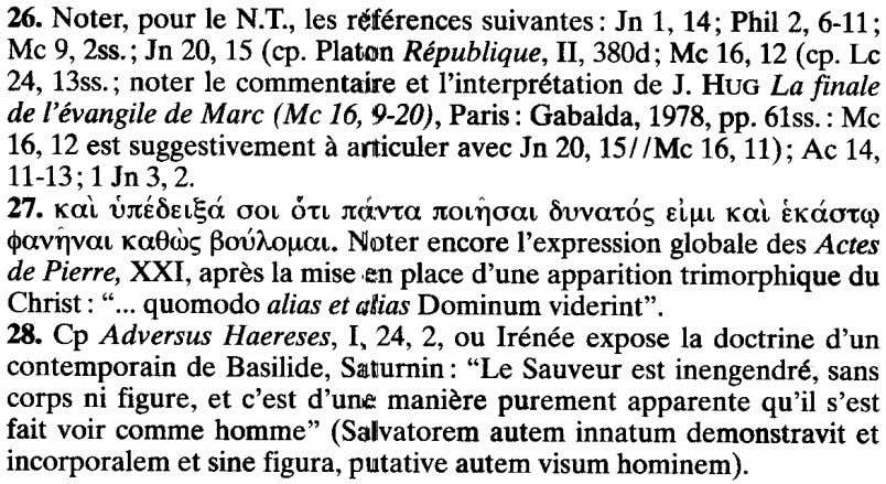 26. Noter, pour Ie N.T., leg references suivantes: In 1, 14; Phil 2, 6-11; Mc