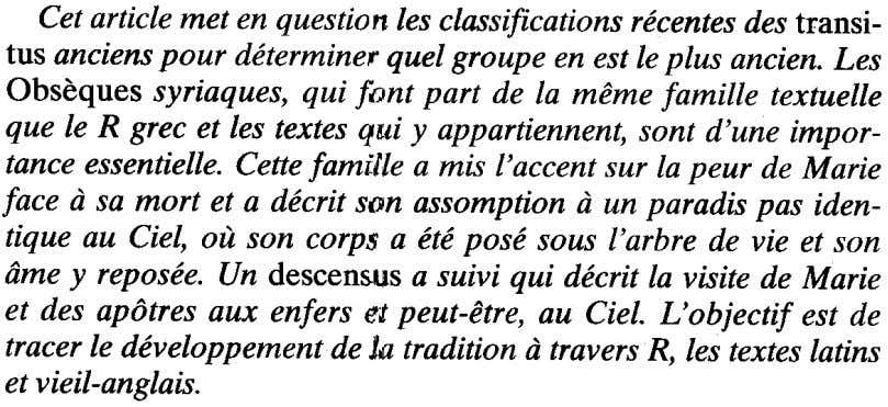 Cetarticle met en questionlesclassificationsrecentesdestransi- tus ancienspour determinerquel groupe en estleplus