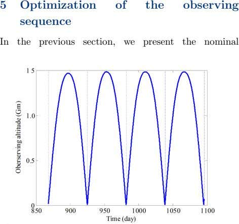 5 Optimization of the observing sequence In the previous section, we present the nominal