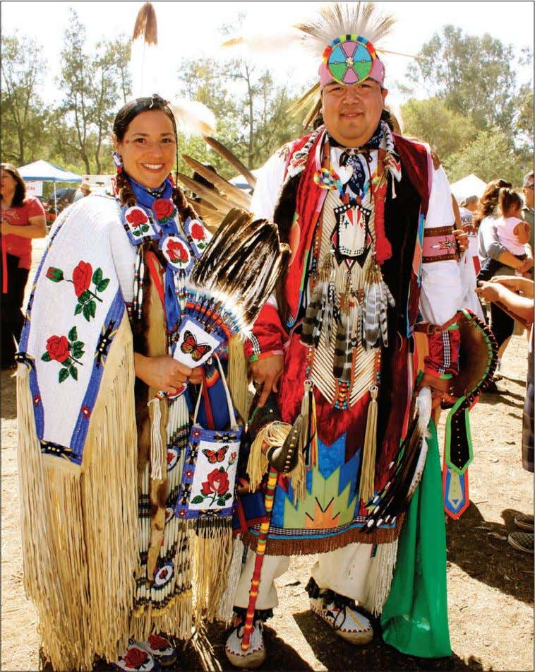 said. — Josee Smith Snapshots of the Stanford Powwow A couple dressed in Northern tradi- tional