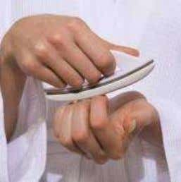 sensation, lift the buffer from the nail after each stroke. HAND AND FOOT SPA Foot File