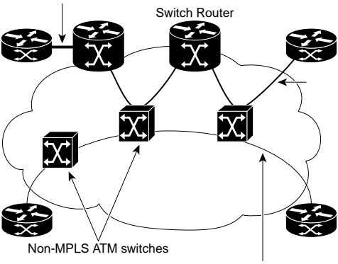 Switch Router Non-MPLS ATM switches