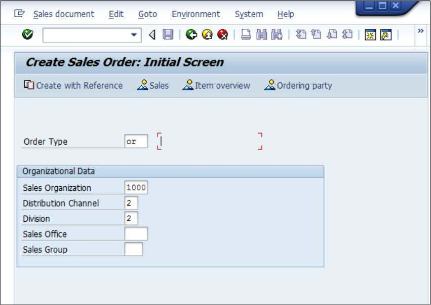 type, Sales Organization, Distribution Channel and Division. 2: Choose document type by F4 search in field