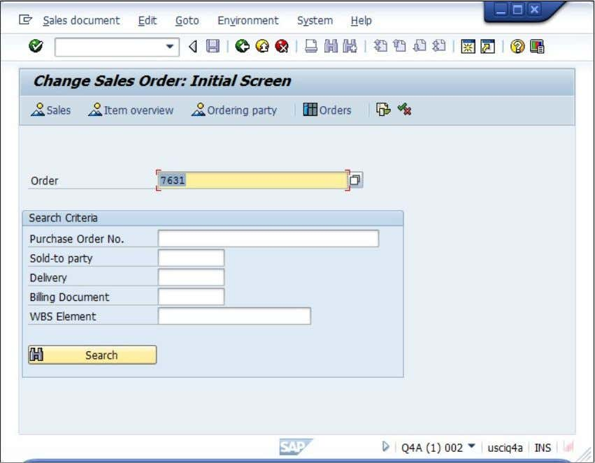 Sales Order and VA03 to Display and Edit the Sales Order Related Content Related Documents SAP