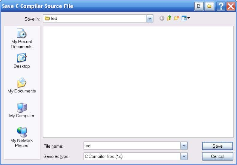 7-1 , will then open. Figure 7-1. Save Source File Dialog. Create a new folder named