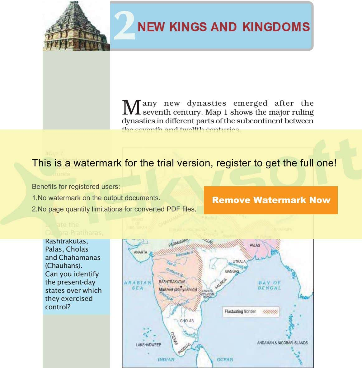 2 NEW KINGS AND KINGDOMS M any new dynasties emerged after the seventh century. Map