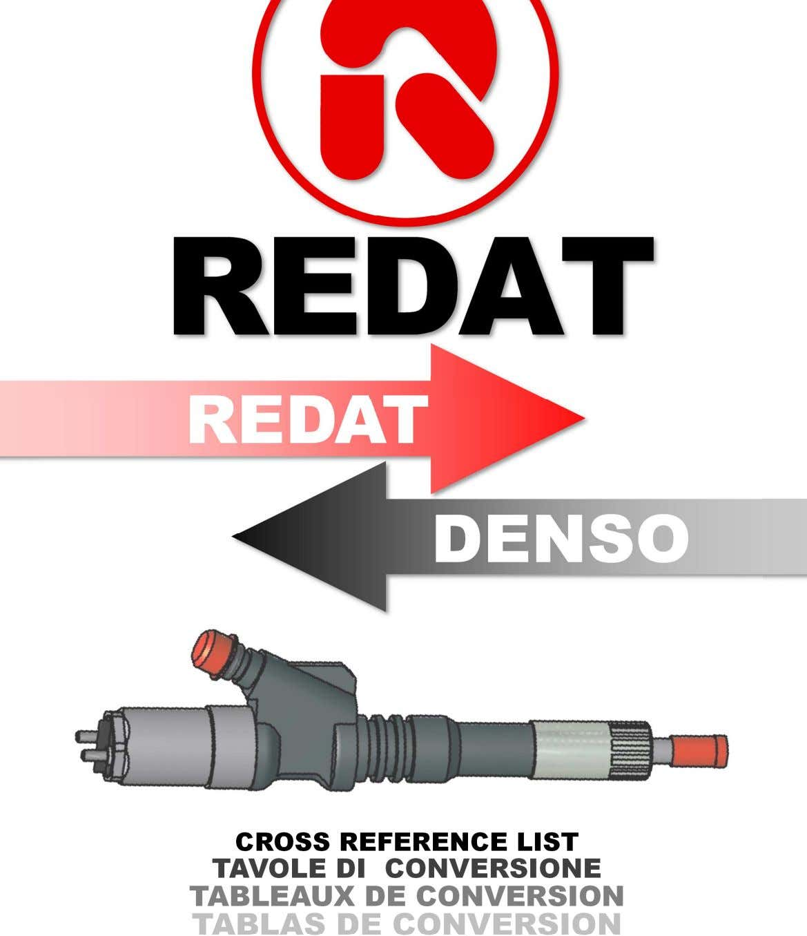 REDAT DENSO CROSS REFERENCE LIST TAVOLE DI CONVERSIONE TABLEAUX DE CONVERSION TABLAS DE CONVERSION