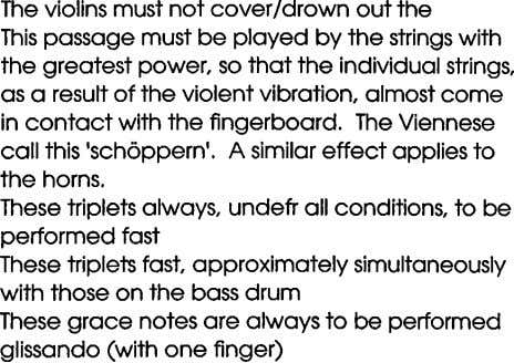 The violins must not coverldrown out the This passage must be played by the strings