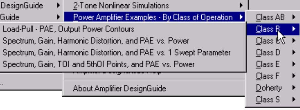 through Class F, with Doherty and Class S examples as well. Amplifier statistical design is also