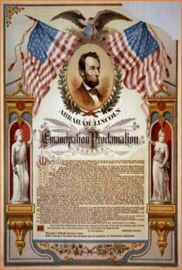 The Emancipation Proclamation January 1, 1863 President Abraham Lincoln issued the Emancipation Proclamation. It was part