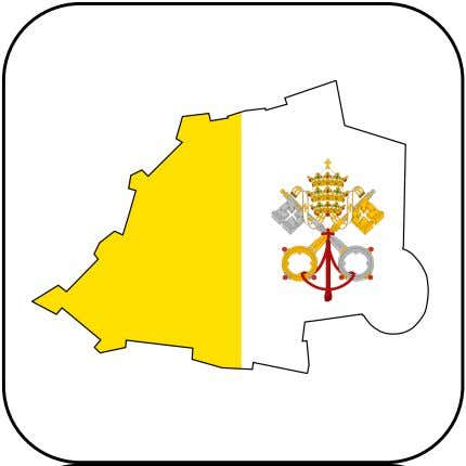 The Pope lives in a simple apartment within Vatican City. Cut out the above box/text to