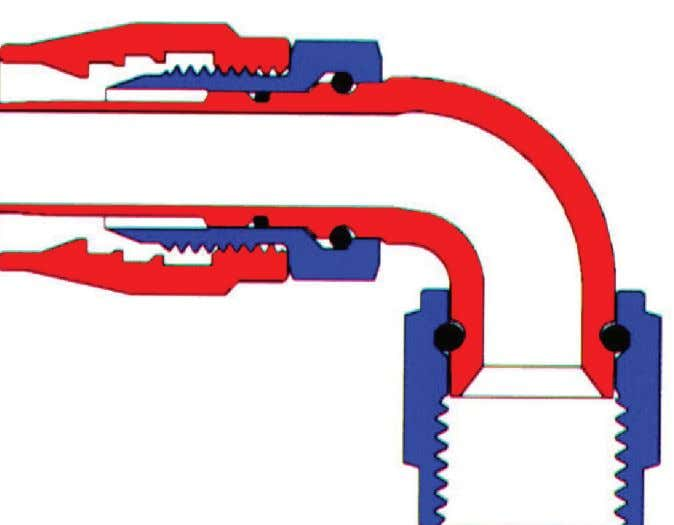 alignment or if gaps exist, may affect the flow of liquid. This design ensures: • Very