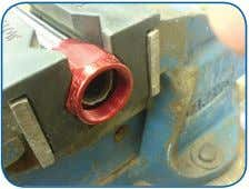 the hose seal and grip properties will be compromised. Step 3 Mark the position of the