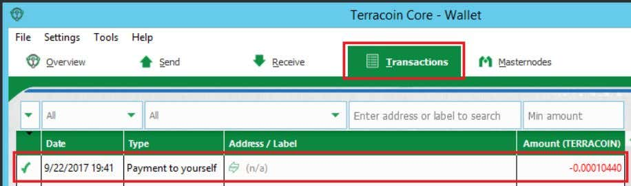 it in Step 2) or right click and Show transaction details: In the transaction details, check,