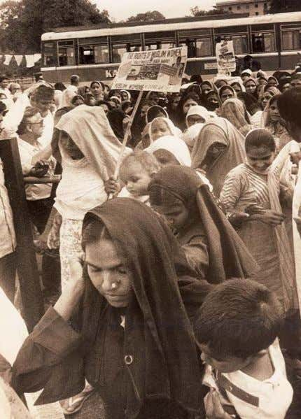 22 / Social and Political Life Women at a rally demanding their rights discrimination had been
