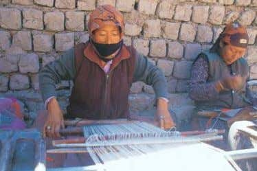 10 / Social and Political Life Woman weaving a pashmina shawl Buddhism reached Tibet via Ladakh.
