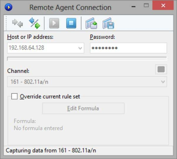 CommView for WiFi will start to capture the remote adapter's traffic as if it is
