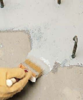 Eporip Eporip Applying Eporip by brush on construction joint Repairing a crack in cement screed with