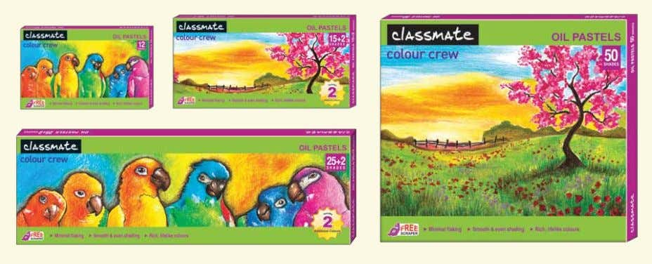 colour recognition with pastels in colour-coordinated labels Pack Size MRP per unit 12 shades Rs. 35