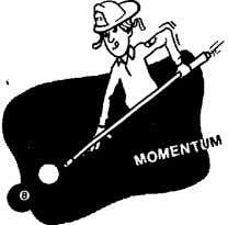 "NOTES Example: See App. D-2 2. LAW OF MOMENTUM: ""When an unbalanced force acts on an"