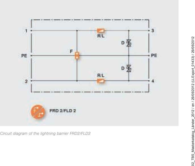 Circuit diagram of the lightning barrier FRD2/FLD2 02_TBS_Masterkatalog_Länder_2012 / en / 29/05/2012 (LLExport_01433) /