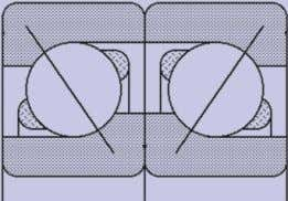 must be properly arranged for the anticipated thrust loads. Left: Figure 4. 'Face to Face' angular