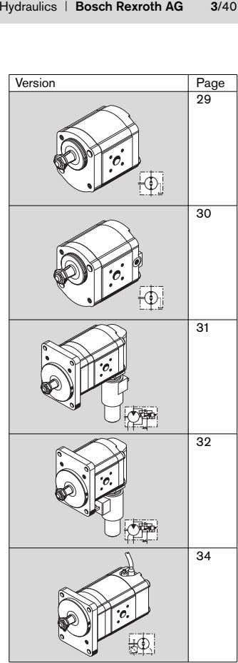 Hydraulics Bosch Rexroth AG 3/40 Version Page 29 30 31 32 34