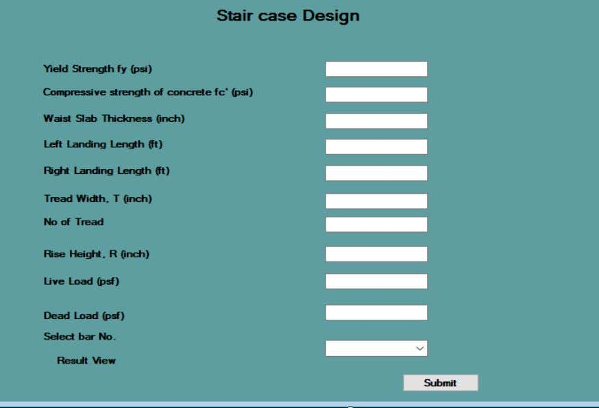 Fig. 4.5: Stair Design Module 49
