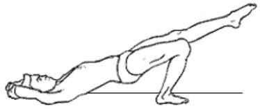 the ground, legs to original position. ARDHACHAKRASANA 2 Posture Pre position Use Position Supine position ,