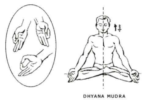 maintain the balance. Asana In Sitting Position DHYANA MUDRA Posture Pre position Procedure Position Sitting
