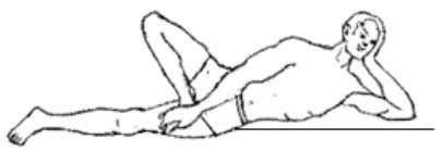 the normal position and take supine position. ANANTASANA 1 Posture Pre position Use Position Supine position,