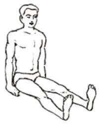 the position. - Do not keep the legs and back in one straight line as in