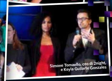 Simone Tomaello, ceo di 2night, e Keyla Guilarte Gonzales