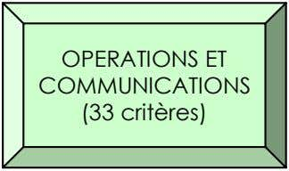 OPERATIONS ET COMMUNICATIONS (33 critères)