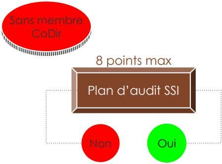 Sans membre CoDir 8 points max Plan d'audit SSI Non Oui