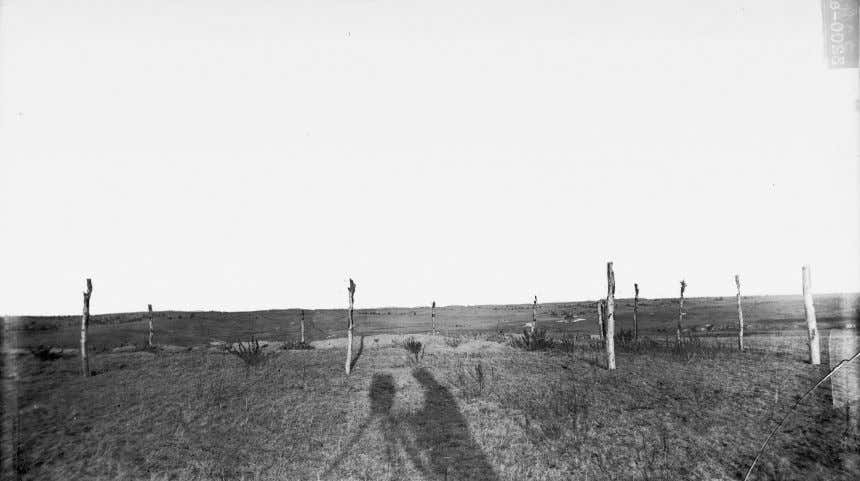 National Anthropological Archives, Smithsonian Institution. Figure 4.4 Fence at Wounded Knee mass grave, ca. 1891, by