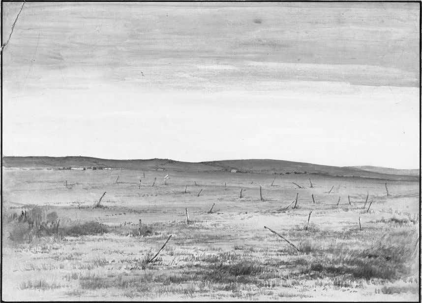Figure 4.3 Memory sticks at Wounded Knee, 1891, by Mary I. Wright (Gill), Bureau of