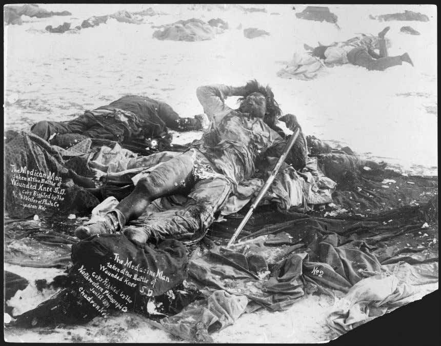 Ethnographer James Mooney later described the interment: Figure 2.2 Medicine Man lying dead in the snow