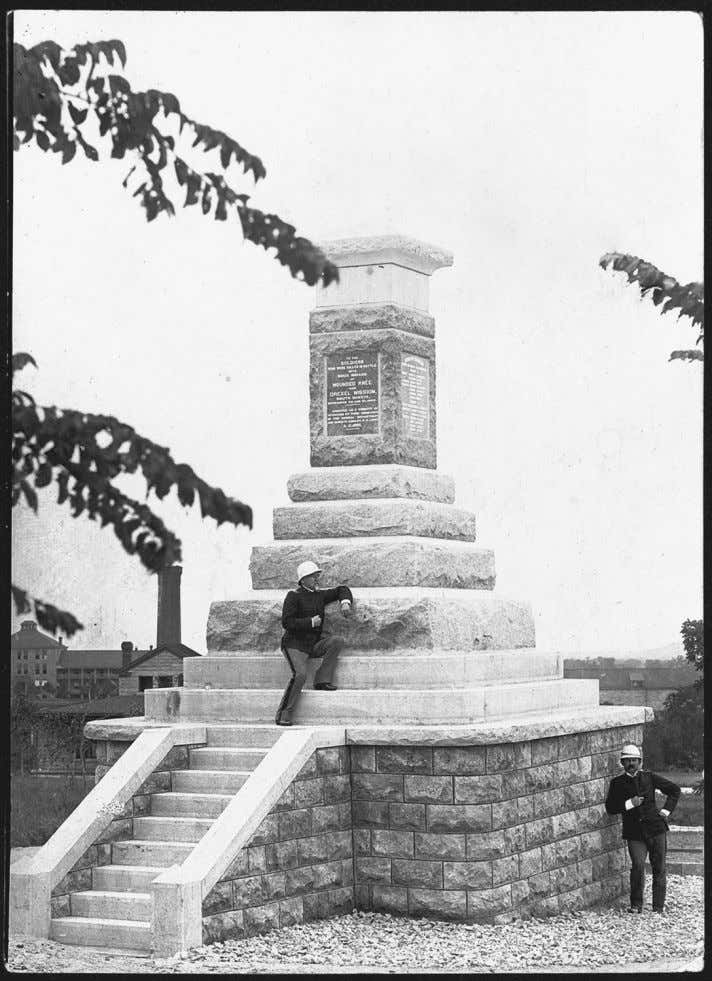 72 Surviving Wounded Knee Figure 3.3 Wounded Knee Monument at Fort Riley, Kansas, ca. 1895, photogra-