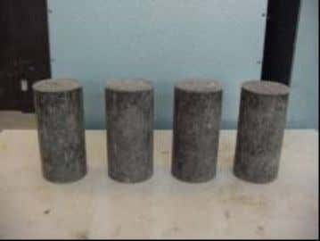 while three specimens were prepared for each change in length test. Figure 3.17 Specimens for Sulfate