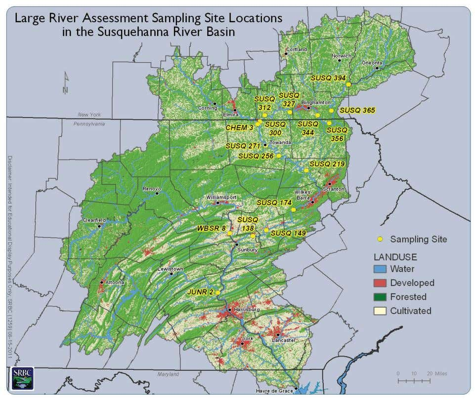 series of dams and reservoirs, which this protocol is not designed to assess. Figure 1. Susquehanna