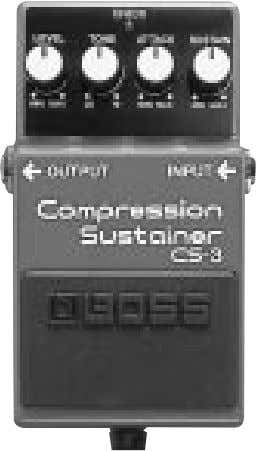 CS-3 Compression Sustainer Mode d'emploi AC DC Alimentation pile et secteur FET
