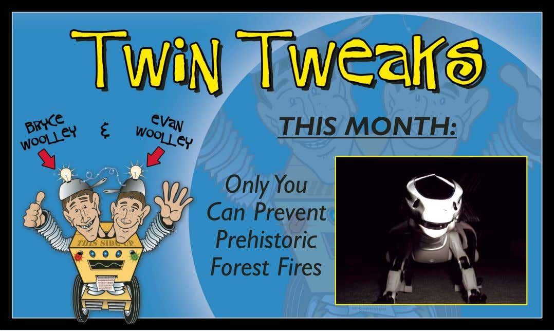 THIS MONTH: Only You Can Prevent Prehistoric Forest Fires
