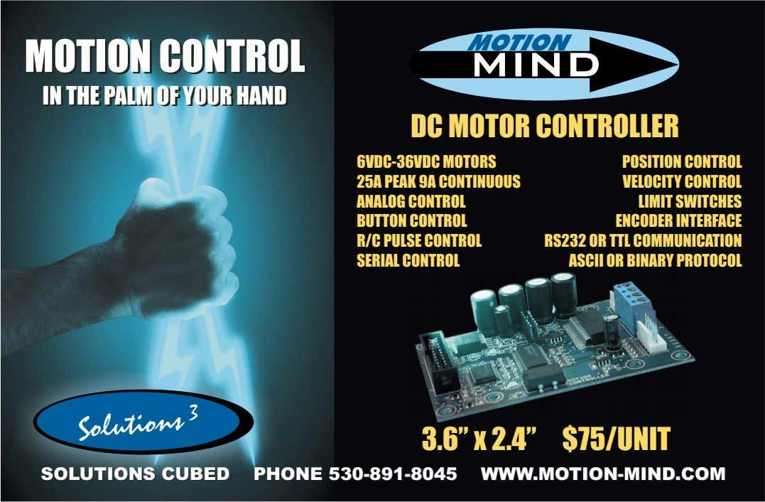 MOTION MOTION MOTION CONTROL CONTROL MINDMIND IN IN THE THE PALM PALM OF OF YOUR