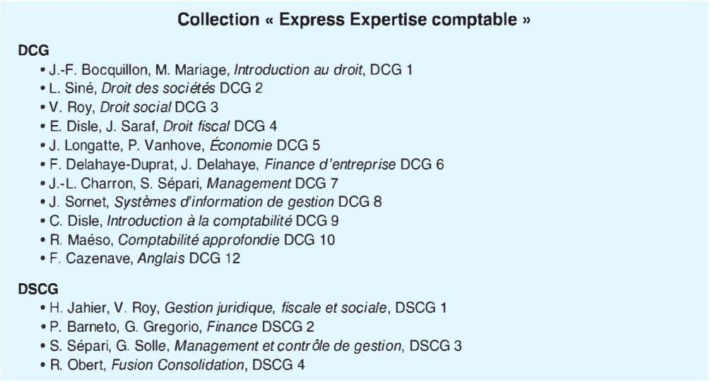 Collection « Express Expertise comptable » DCG • J.-F. Bocquillon, M. Mariage, Introduction au droit,
